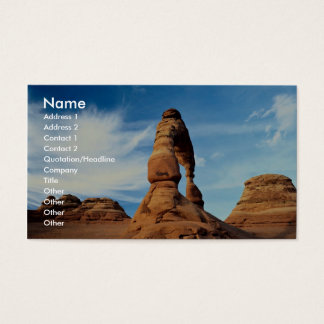 Delicate arch, Arches National Park, Utah, USA Business Card