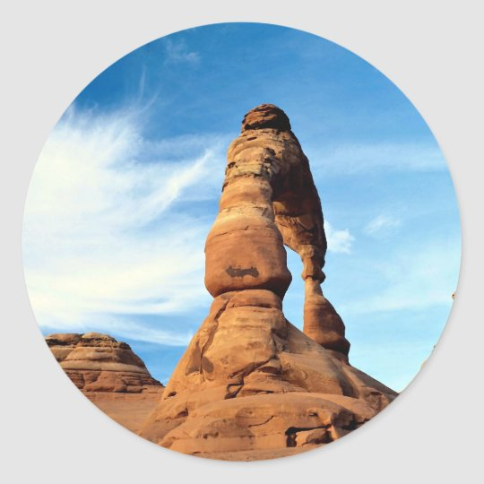 Delicate arch, Arches National Park, Utah, USA Classic Round Sticker