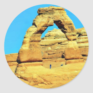 Delicate Arch At Arches National Park Classic Round Sticker