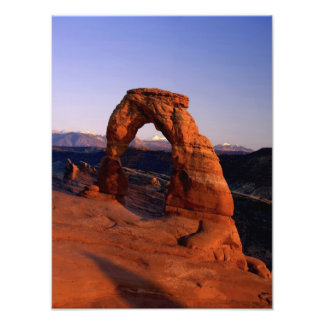 Delicate Arch at Sunset with snow covered La Photo
