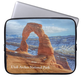 Delicate arch in Utah Arches National Park Laptop Sleeve