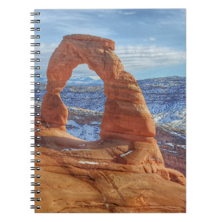 Delicate arch in Utah Arches National Park Notebooks
