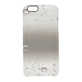 Delicate Beige Gray Water Balls iPhone Clearly™ Clear iPhone 6/6S Case