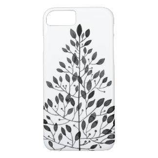 delicate black floral pattern Case-Mate iPhone case