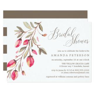 Delicate Bloom typography wedding Bridal Brunch Card