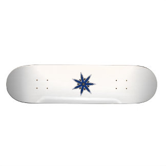 Delicate blue faerie star skateboards
