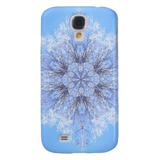 Delicate Blue Snowflake Fractal