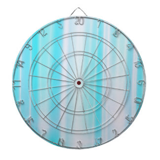 Delicate Blue Striped Dartboard