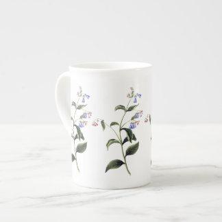 Delicate Blue Wildflowers Botanical Bone China Mug