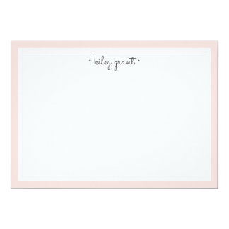 Delicate Blush Personalized Stationery Flat Card