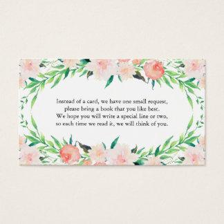 Delicate Bouquet Book Request Card