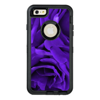 Delicate bright purple roses floral photo OtterBox defender iPhone case