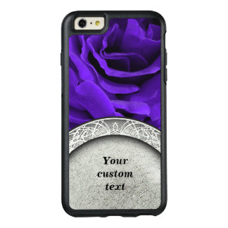 Delicate bright purple roses floral photo OtterBox iPhone 6/6s plus case