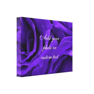 Delicate bright purple roses flower photo canvas print