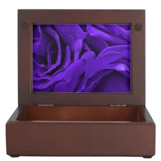 Delicate bright purple roses flower photo keepsake box