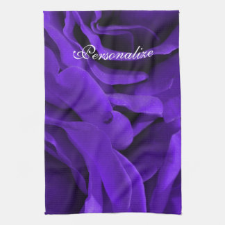 Delicate bright purple roses flower photo kitchen towel