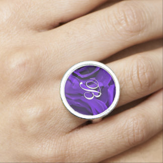 Delicate bright purple roses flower photo photo rings