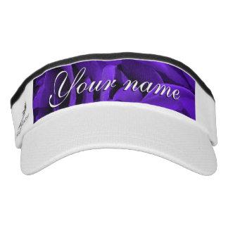 Delicate bright purple roses flower photo visor