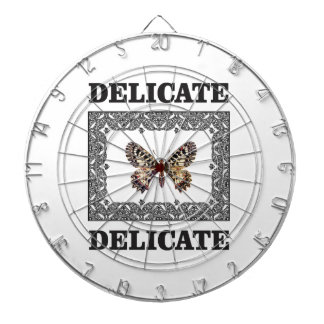 delicate butterfly art dartboard