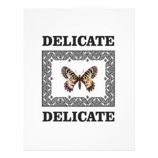 delicate butterfly art letterhead