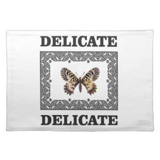delicate butterfly art placemat