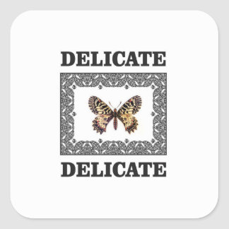 delicate butterfly art square sticker