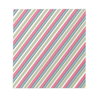 Delicate color stripes notepad