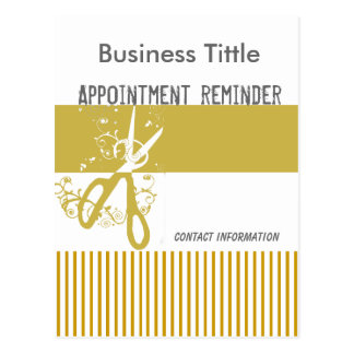 Delicate Colors Salon Stylist Appointment Reminder Postcard