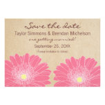Delicate Daisies Save the Date Invite, Pink