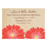 Delicate Daisies Save the Date Invite, Red
