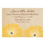 Delicate Daisies Save the Date Invite, Yellow