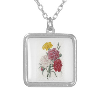 Delicate Dianthus Silver Plated Necklace