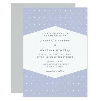 Delicate Dots Pretty Blue Wedding Card