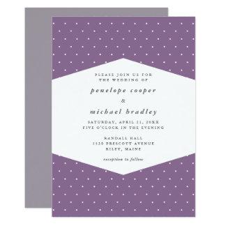 Delicate Dots Purple Wedding Card