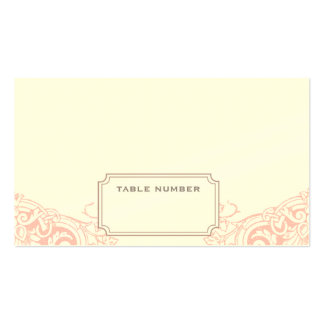 Delicate Dream Wedding Escort Card in Soft Pink Business Card Template
