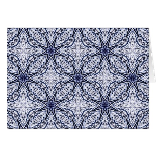 Delicate elegance blue and white card