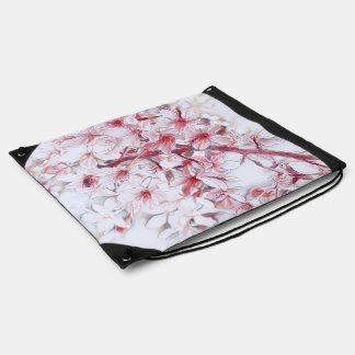 delicate floral 118 drawstring bag