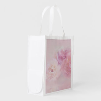 delicate floral 218 reusable grocery bag