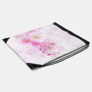 delicate floral 418 drawstring bag
