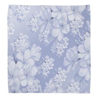 Delicate floral pattern,blue (I) Bandana
