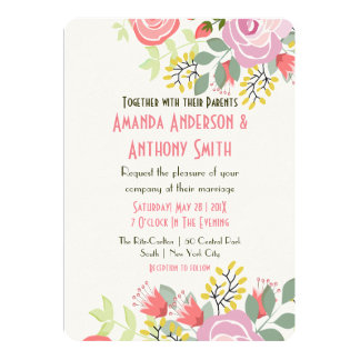 Delicate floral print card