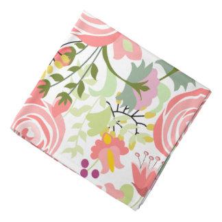 Delicate floral print do-rag