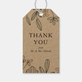 Delicate Floral Thank You Gift Tags
