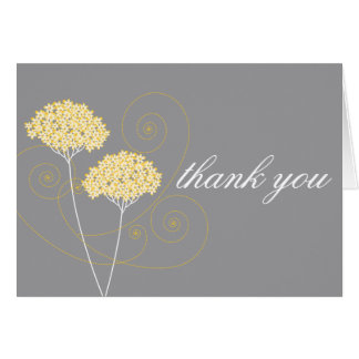 Delicate Floral Thank You Note Card