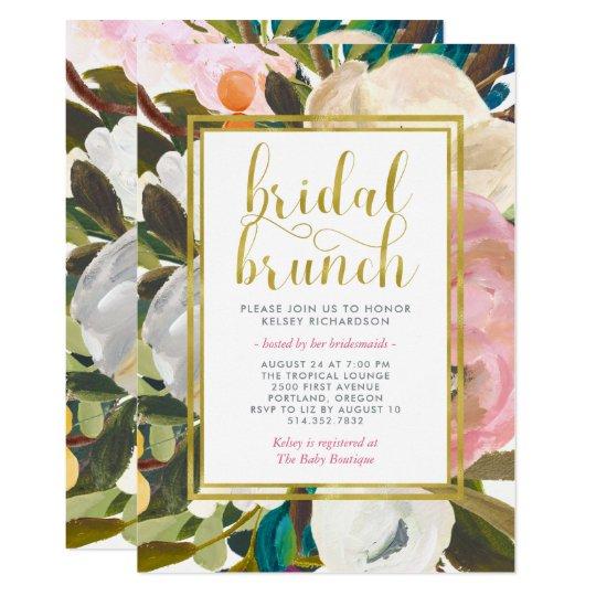 Delicate Floral Watercolor | Bridal Brunch Card