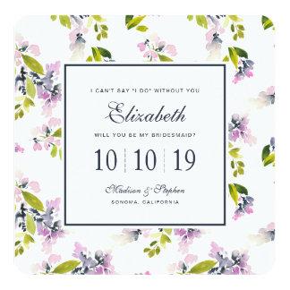 Delicate Floral Watercolor - Bridesmaid Card