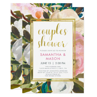 Delicate Floral Watercolor | Couples Shower Card