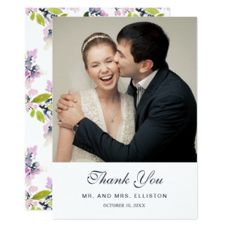 Delicate Floral Watercolor | Thank You Card
