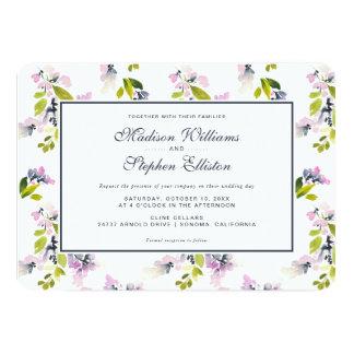 Delicate Floral Watercolor - Wedding Card