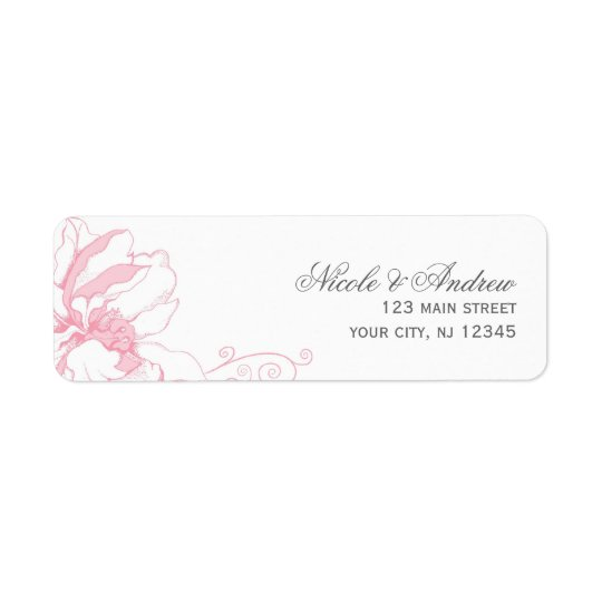 Delicate Floral Wedding Address Labels